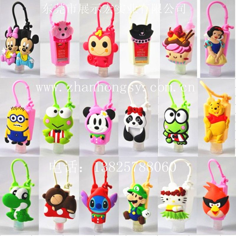 Cute Hand Sanitizer Cases 3d Animal Silicone Hand Sanitizer