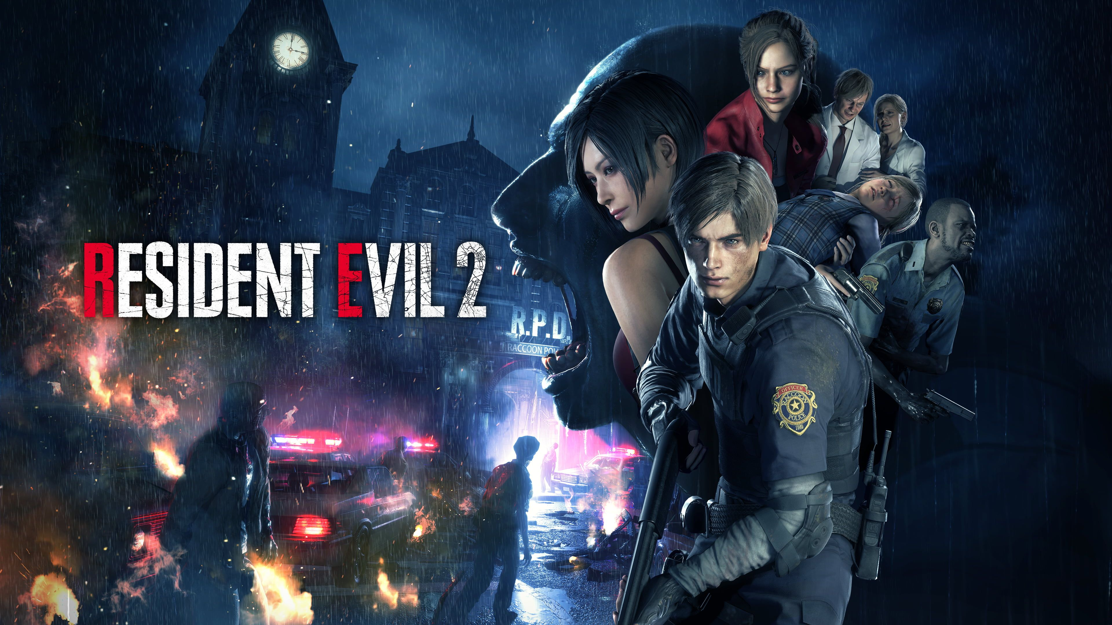 Resident Evil 2 Remake Horror Capcom Resident Evil 4k Wallpaper Hdwallpaper Desktop In 2020 Resident Evil Evil Survival Horror Game