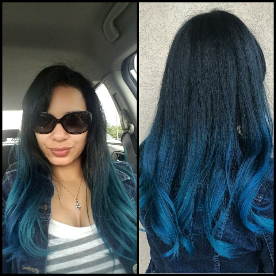 Blue It Is Ashley Panache Salon Linglestown Rd Harrisburg Pa Is An Absolute Beast When It Comes To Haircolor Blue Long Hair Styles Hair Color Blue Beauty