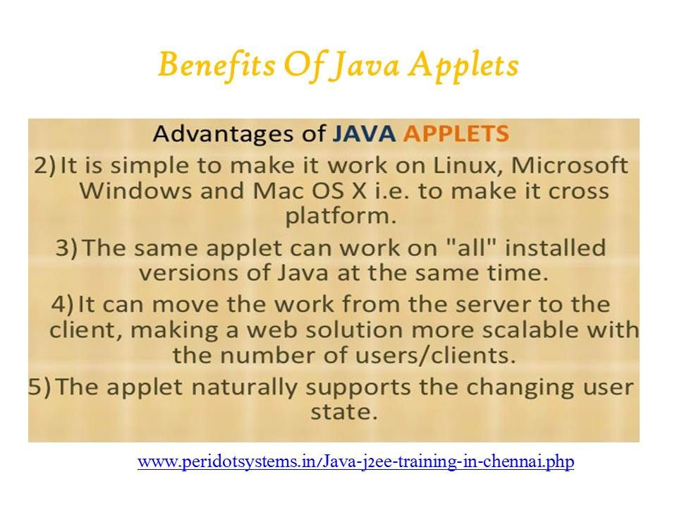 c89e99a64517debc8ca8f23e88b00feb - Application Of Applet In Java