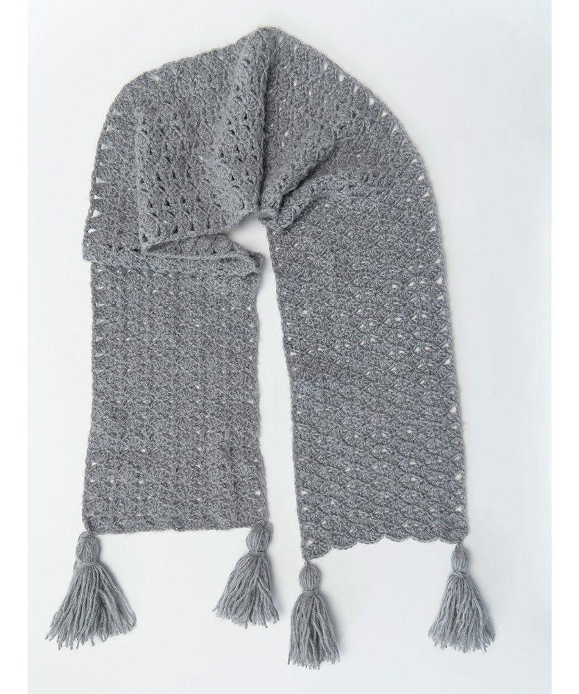 Daydream Scarf | Red Heart | Crochet scarf pattern free ...