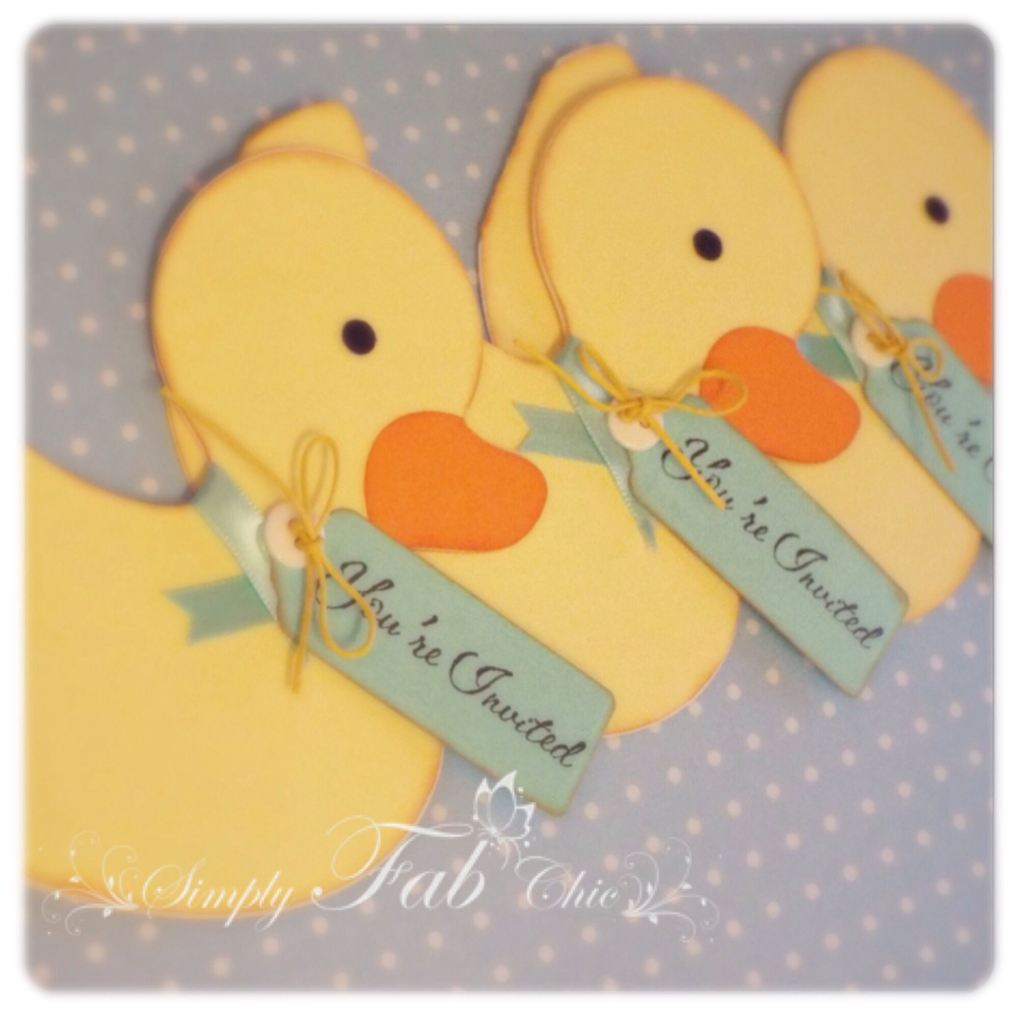 Rubber Duck Invitation by Simply Fab Chic for baby shower baby