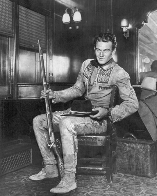 John Wayne During A Publicity Tour For The Big Trail In New York