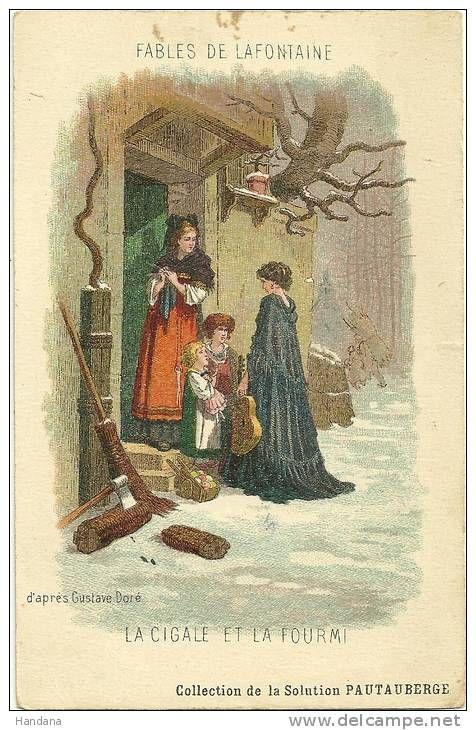 Carte Fables De Lafontaine Cigale Et Fourmi Dessin Couleur D Apres