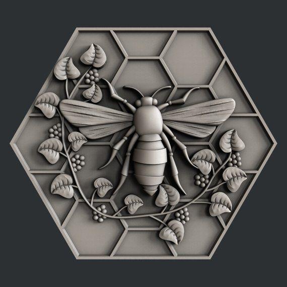 3d STL models for CNC bee 3d printing service, 3d