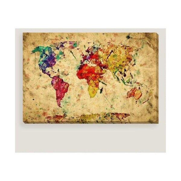 Cost Plus World Market Vintage Style World Map Wall Art ($130 ...