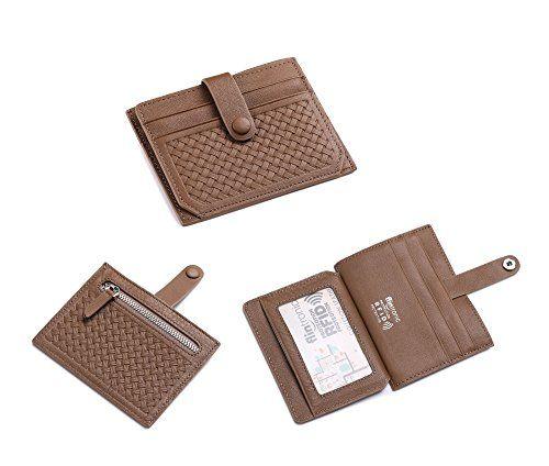 flintronic femme portefeuille en cuir mince rfid blocage porte carte de cr dit porte monnaie. Black Bedroom Furniture Sets. Home Design Ideas