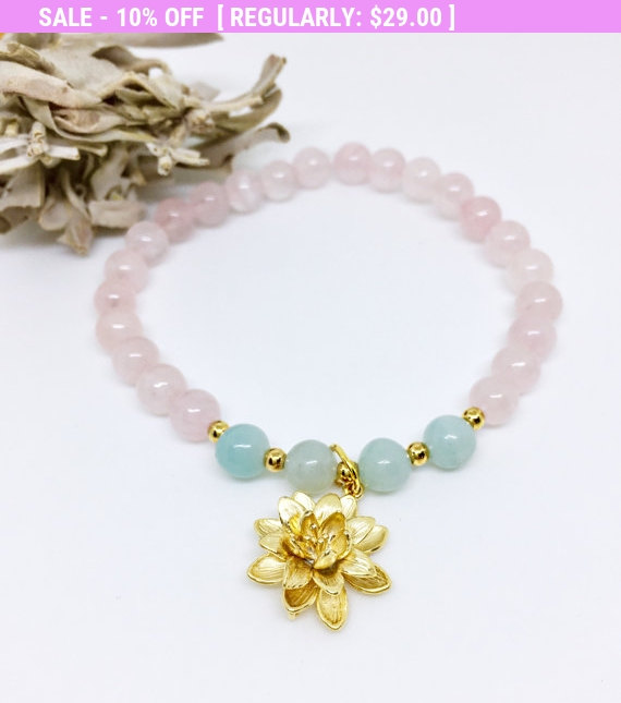 Mala Bracelet Wrist Mala Yoga Bracelet Rose Quartz Mala