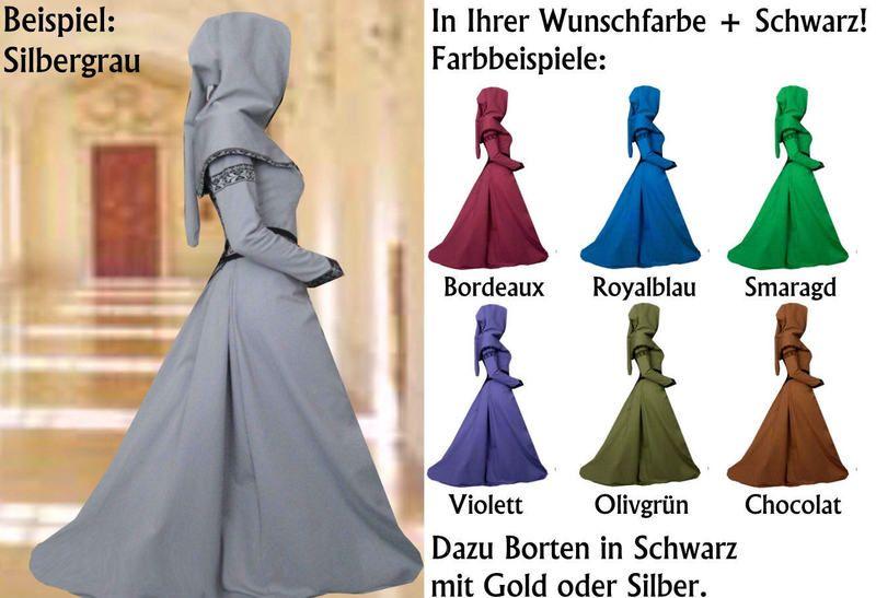 Traumhaftes Mittelalter - Gewand  * LADIVA *  Das Gewand Ladiva wird für Sie von mir angefertigt. In Wunschgröße und in Wunschfarbe.  Die Farb...
