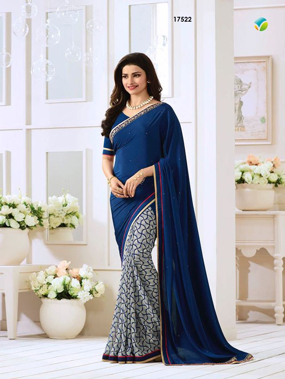 Blue Exclusive Designer Fancy Saree