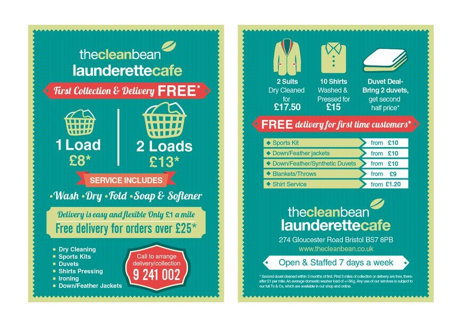 Flyer Design For Our New Laundry Delivery Service Laundry