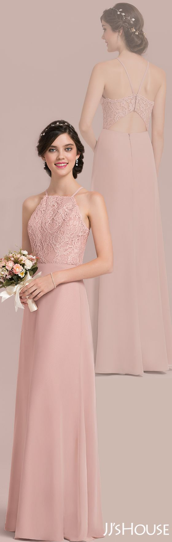 This chiffon lace bridesmaid dress is too good to be true! #JJsHouse ...