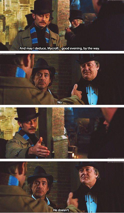 sherlock holmes - one of my top three favourite adaptations of the great detective (robert downey jr. ... and STEPHEN FRY)