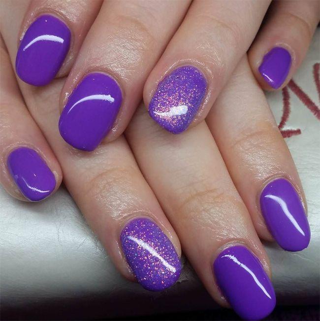 Cool Purple Glitter Nail Designs For Long Nails Nail Art