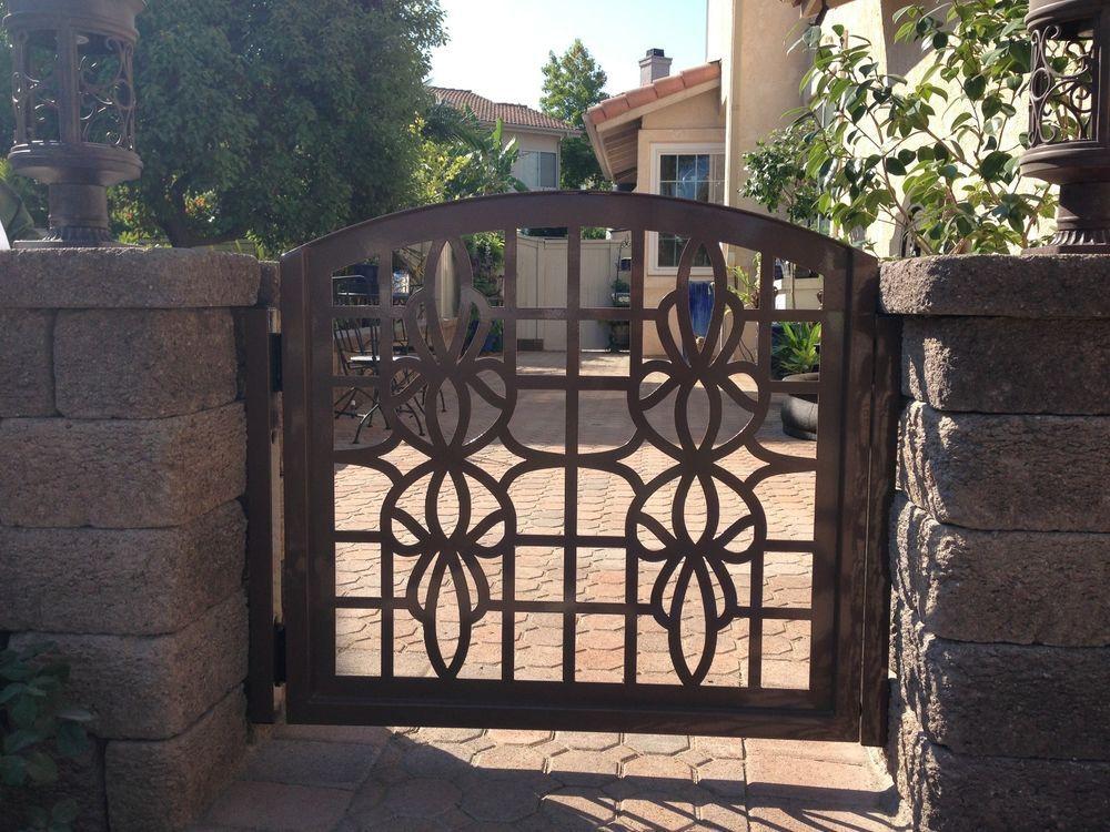 Metal Gate Custom Entry Walk Thru Pedestrian Wrought Iron Garden