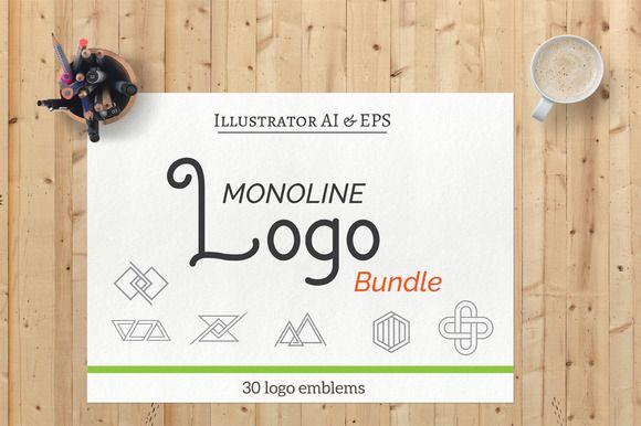 Monoline Logo Vol.1 @creativework247