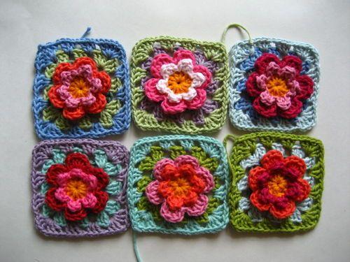 Granny\'s Flower Patch   Crochet, tejido y telar   Pinterest   Häkeln
