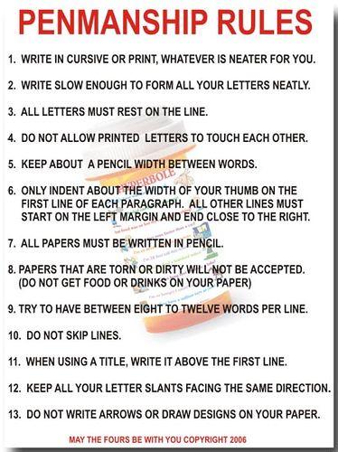 001 Penmanship Rules Teaching is my passion Penmanship