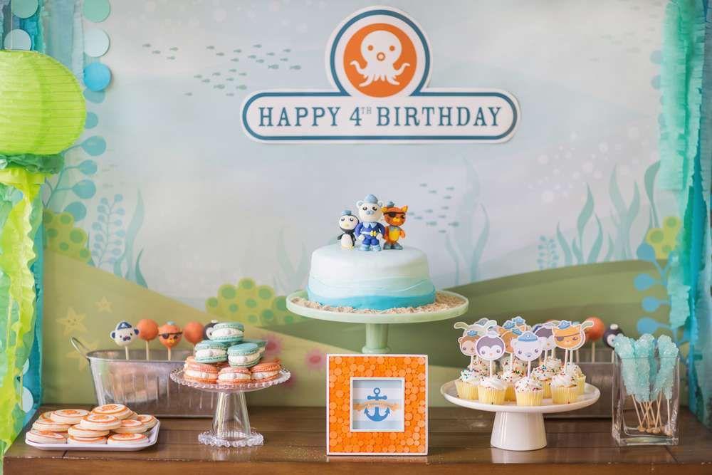 Octonauts Birthday Party Ideas Dessert table Birthdays and