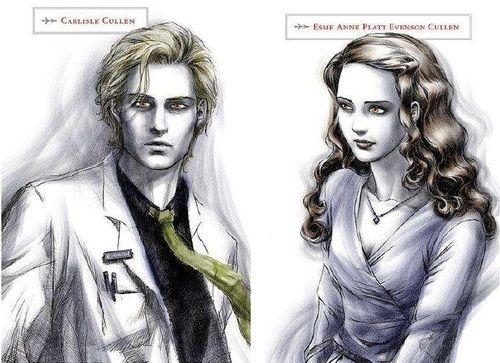 Dr  Carlisle Cullen and Esme Anne Platt Evenson Cullen