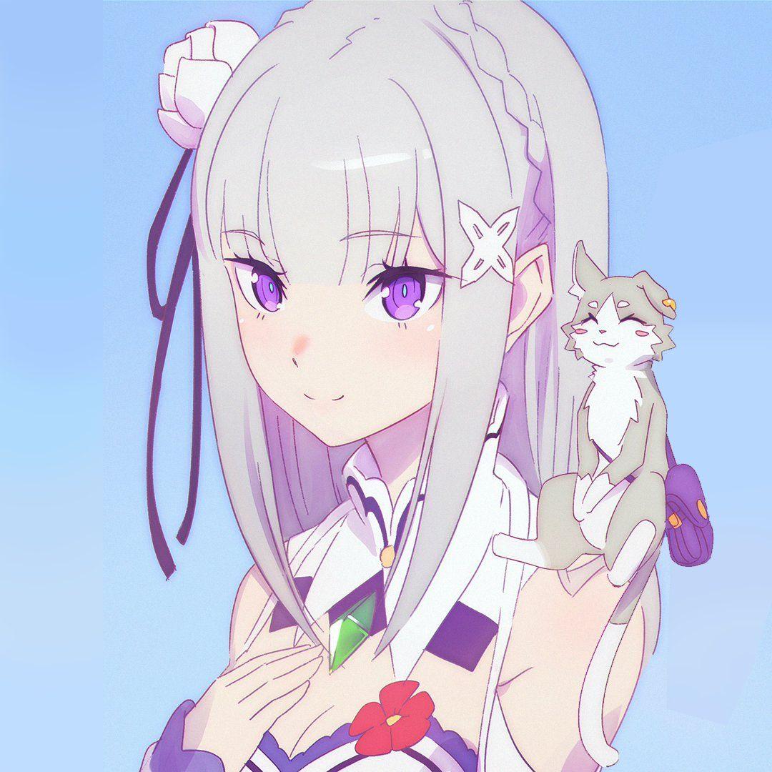 ReZero, Emilia, by ilya kuvshinov Anime, Anime artwork