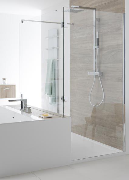 perene agencer une salle de bains avec douche et baignoire