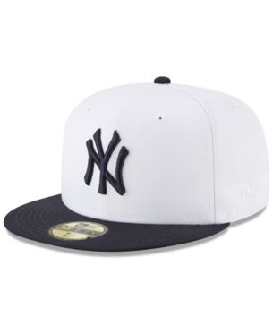 bff7e11bd7df9 New Era New York Yankees Batting Practice Wool Flip 59FIFTY Fitted Cap -  White Navy 7 5 8