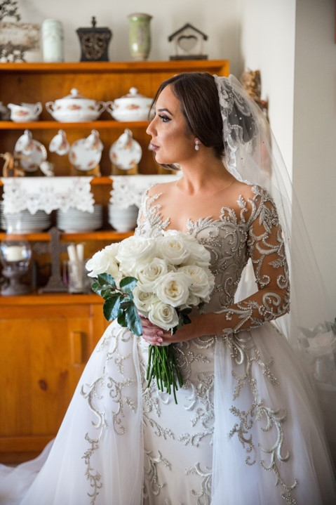 Silver Thread Beaded Embroidery Wedding Gown From Darius Cordell Darius Cordell Wedding Dresses Custom Wedding Dress Wedding Dress Long Sleeve