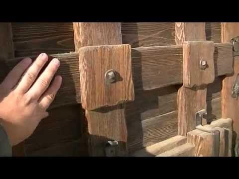 Entrance, semi-antique wooden door