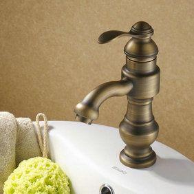 Salle de bain ancien évier Tap Antique Finish cuivre T0427A ...