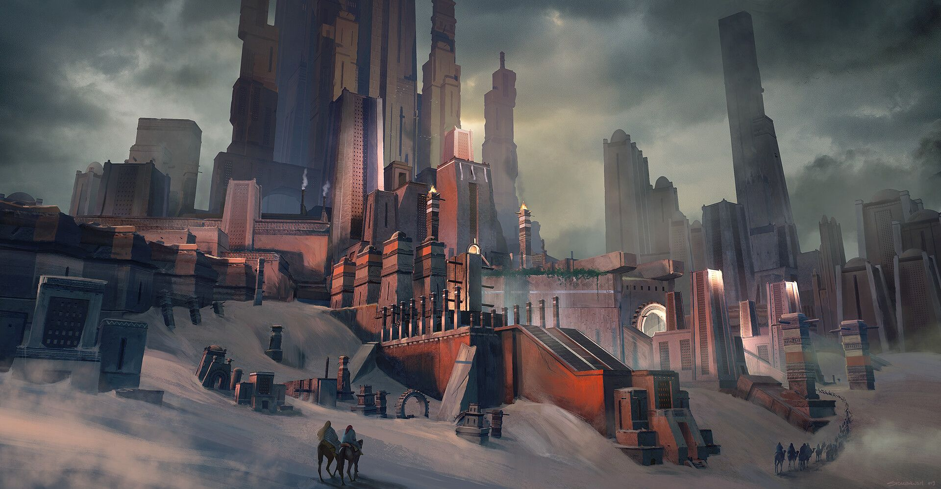 ArtStation - KitBash3d Cover - Ancient Temples, Cristian