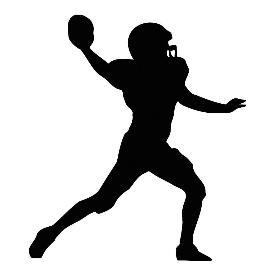American Football Player Silhouette Black Vinyl Art Wall Decal - How to make vinyl wall decals with silhouette