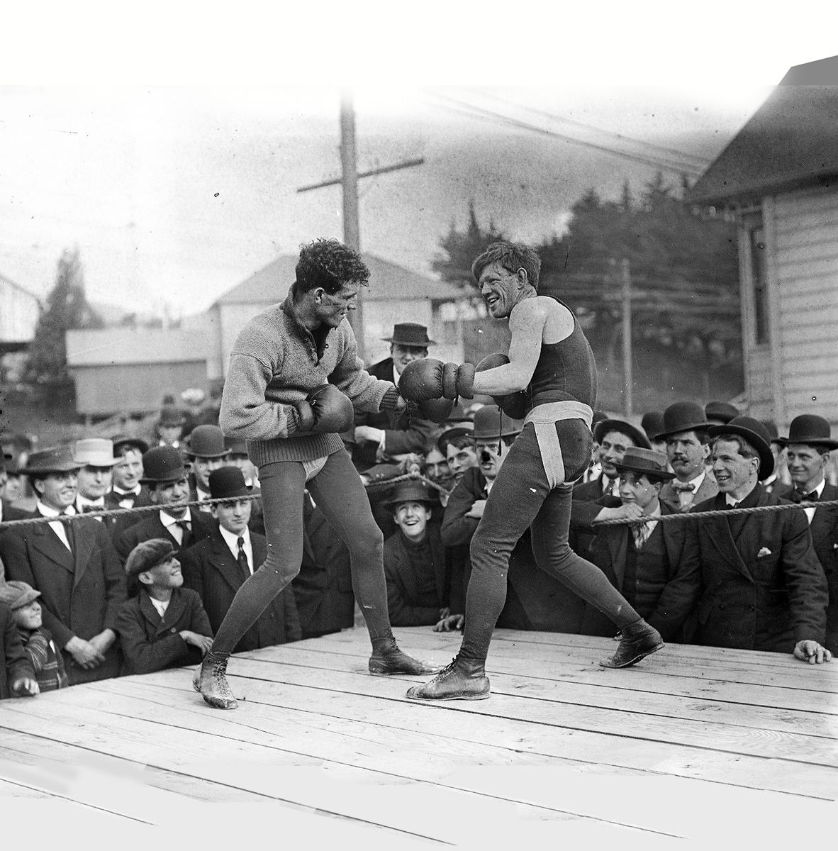 1900s Packy McFarland Boxing Original Glass Plate Negative
