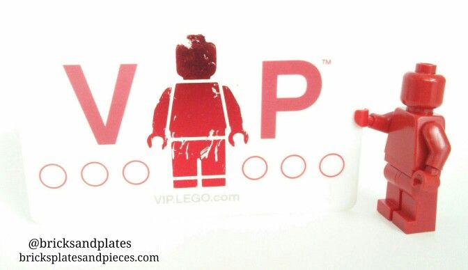 Lego VIP Card and The Red Iconic Monochrome Minifigure   Lego ...
