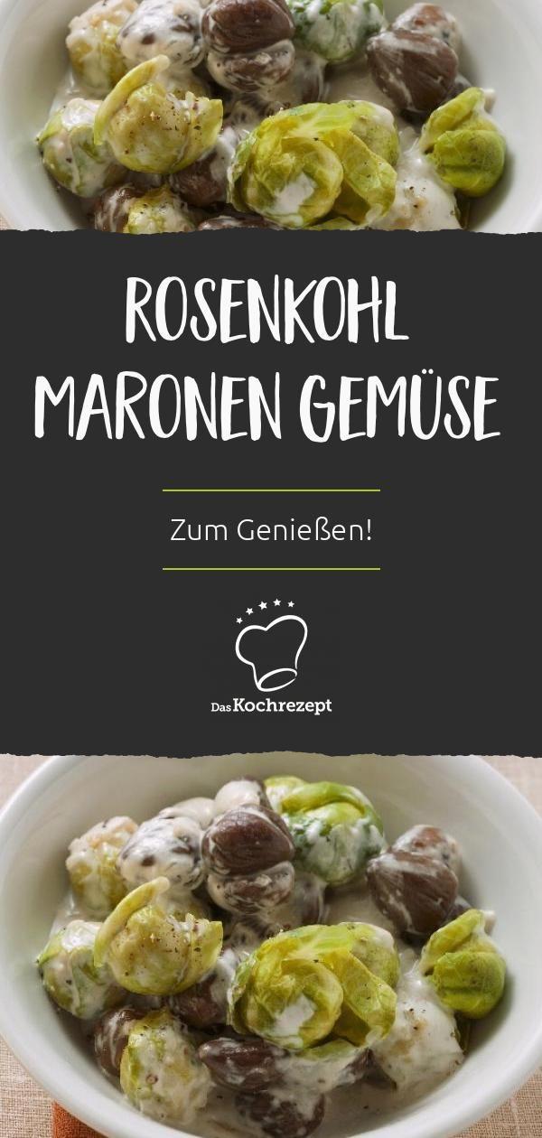 Rosenkohl Maronen Gemüse