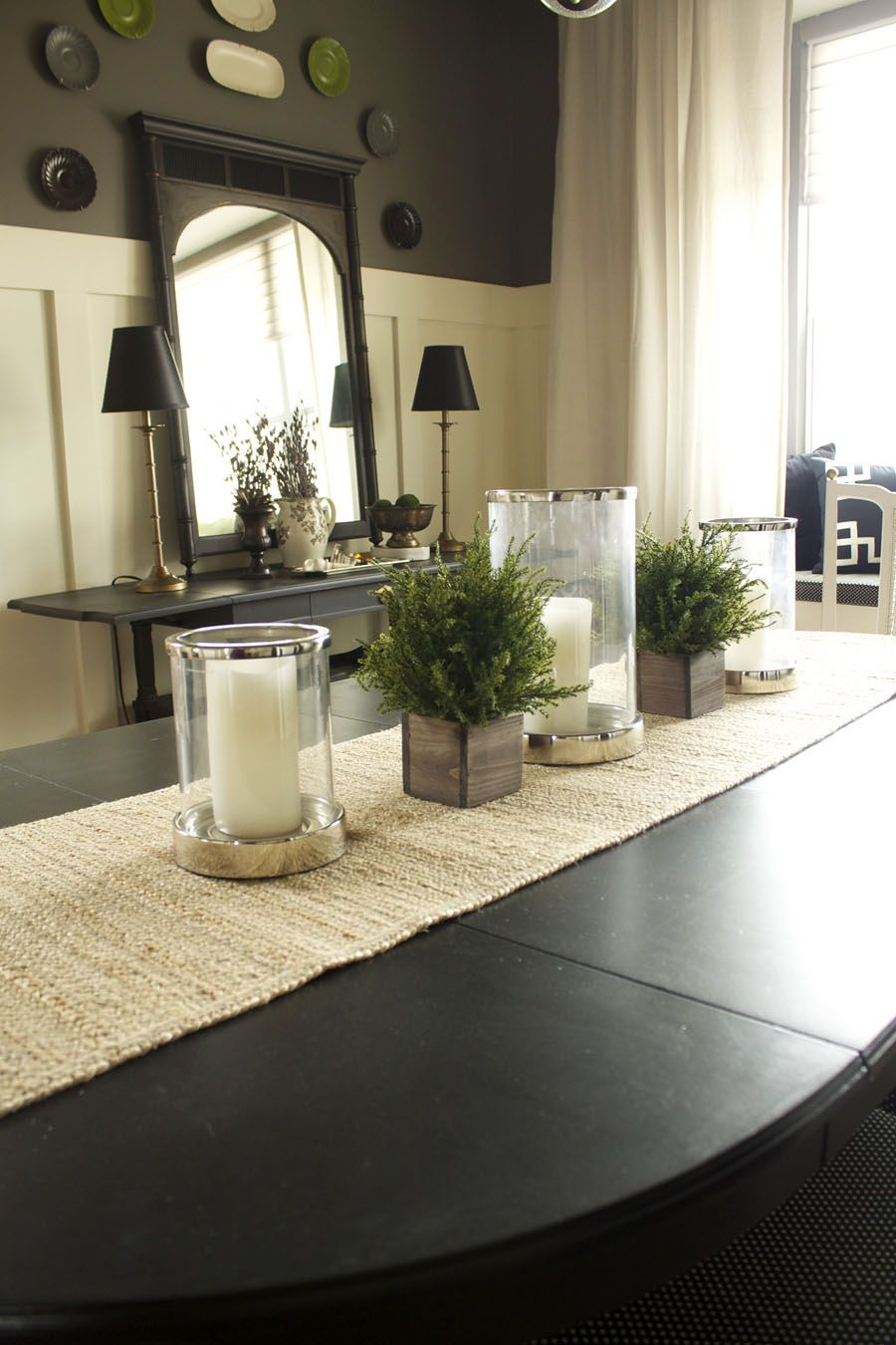 Top 9 Dining Room Centerpiece Ideas I Like The Dark Brown Wall Color On Top.