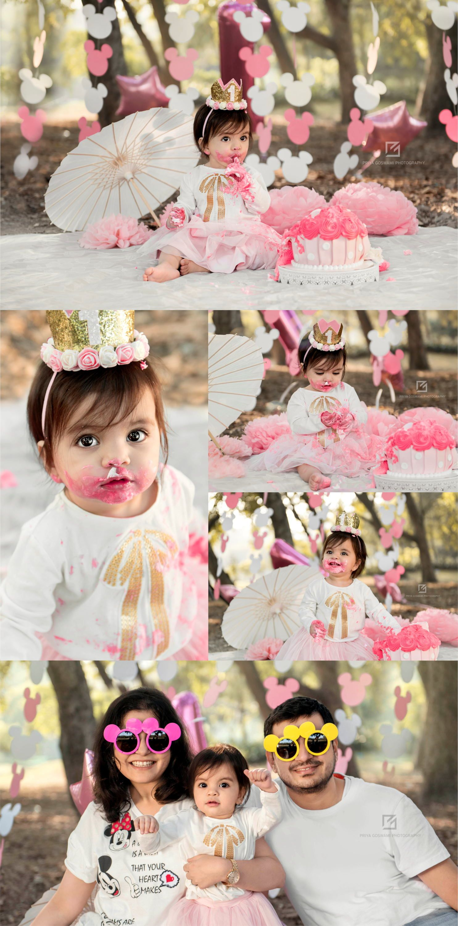 Minnie Mouse Themed Cake Smash Session With Images Smash Cake