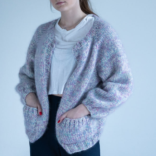 Pop Jacket | Knitting pattern knitted cardigan sweater by