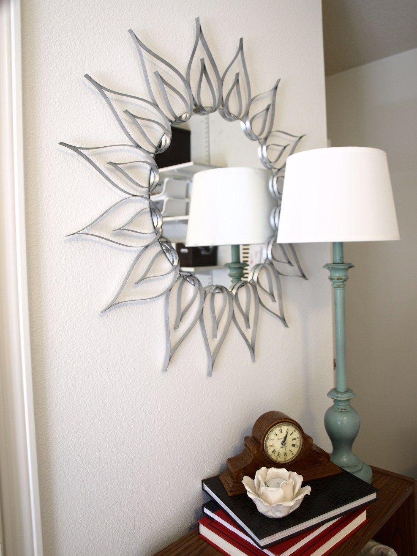 Diy Sunburst Mirror Wall Mirror Decor Living Room