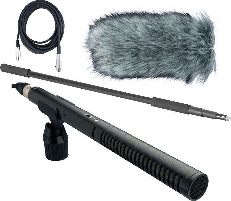 Rode Rode NTG2 Dual Powered Condenser Microphone W/Handheld Boom Pole, Rode Deadcat, And Mic Cable WITH FREE 3-DAY DOMESTIC SHIPPING!
