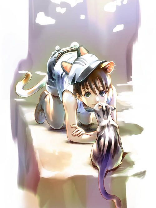 Catboy Cute Anime Cat Anime Animals Anime Cat