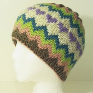 Crazy Cool Chevron Cap free pattern