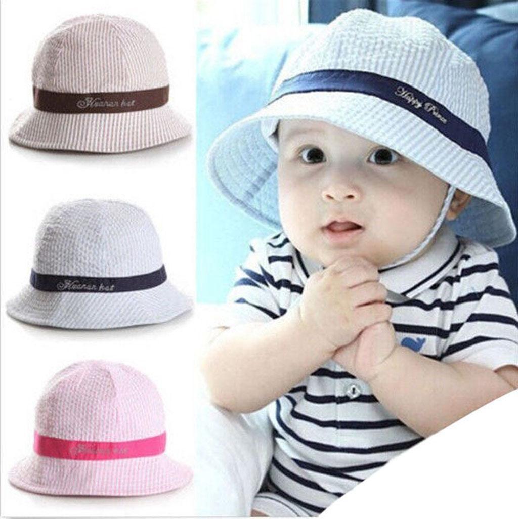 Summer Cotton Kids Baby Sun Cap Girls Boys Sun Outdoor Beach Hat Toddler Infant