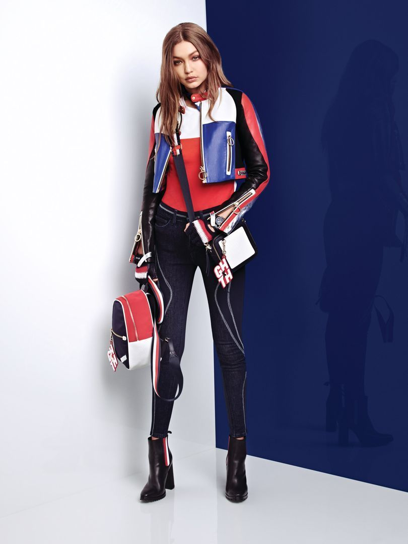 gritar tranquilo Fragua  Gigi Hadid    Tommy Hilfiger (2018)   Moda geométrica, Iconos de moda, Ropa  juvenil