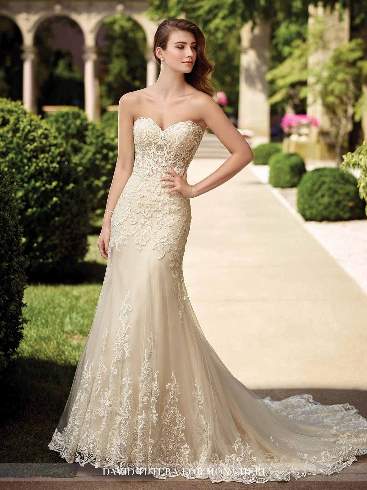 Embroidered Sweetheart Fit and Flare Wedding Dress- 117278 Oria ...