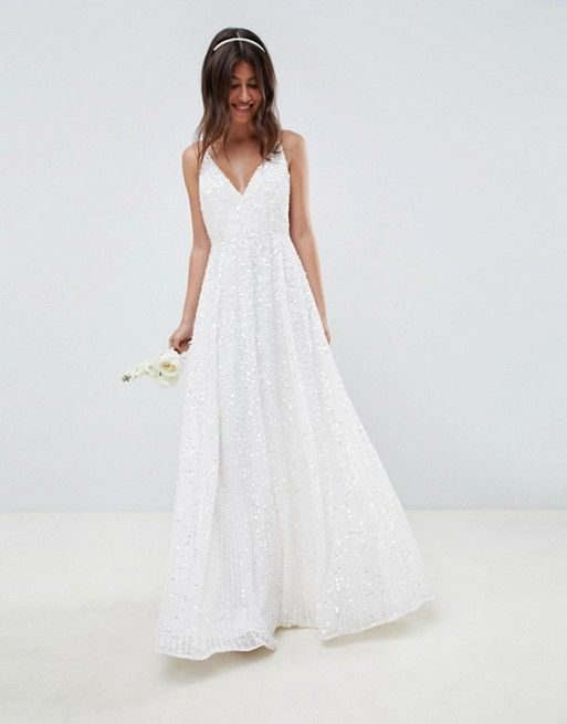 45a77b9e0d2 EDITION sequin cami wedding dress in 2019