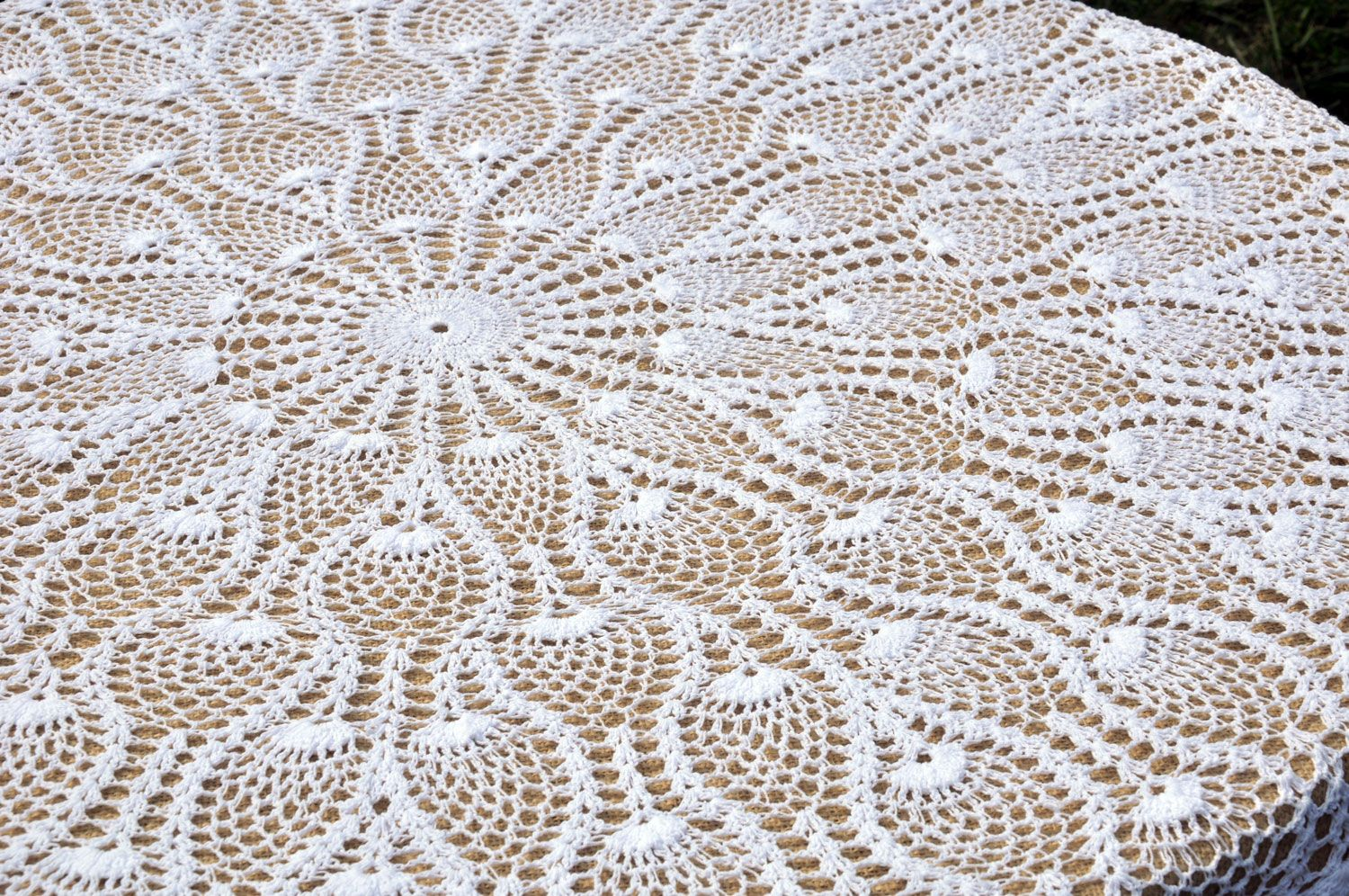 Round Lace Tablecloths 90 Inch Round Lace Crochet Tablecloth
