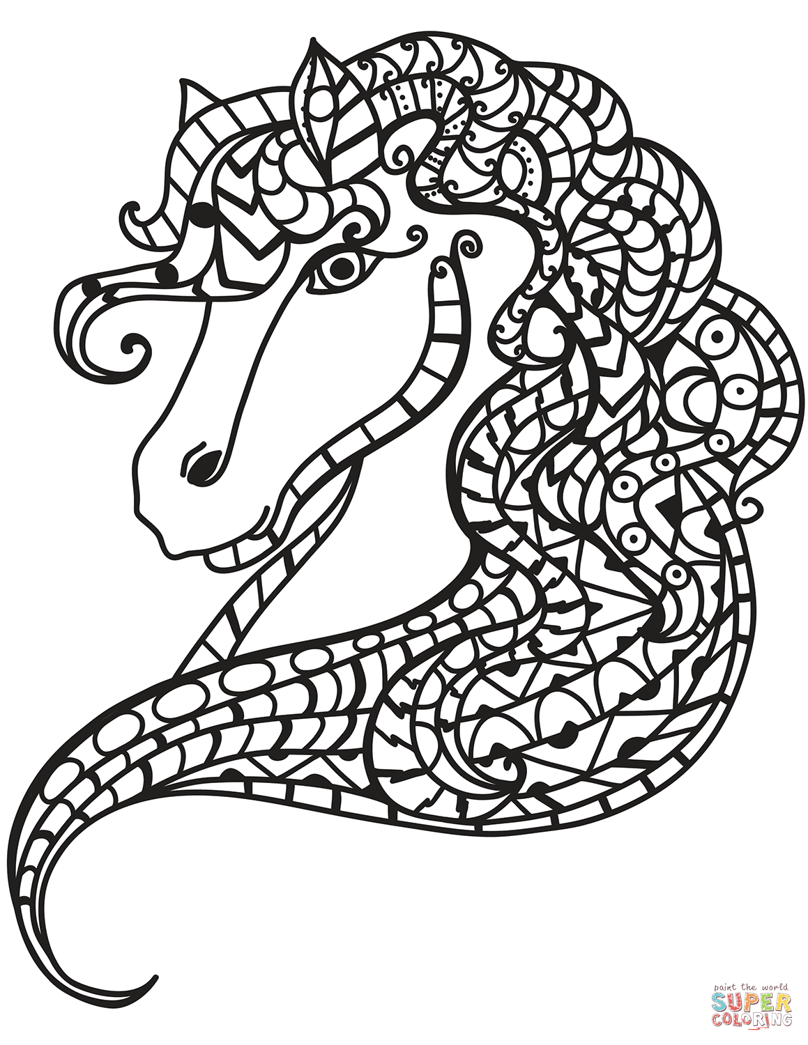 Horse Head Zentangle Coloring Page Free Printable Coloring Pages Coloring Pages Horse Coloring Pages Free Printable Coloring Pages