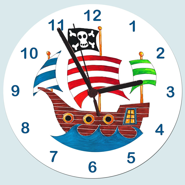 Wanduhr Pirat | Piratenzimmer | Piraten Kinderzimmer | Pinterest ...