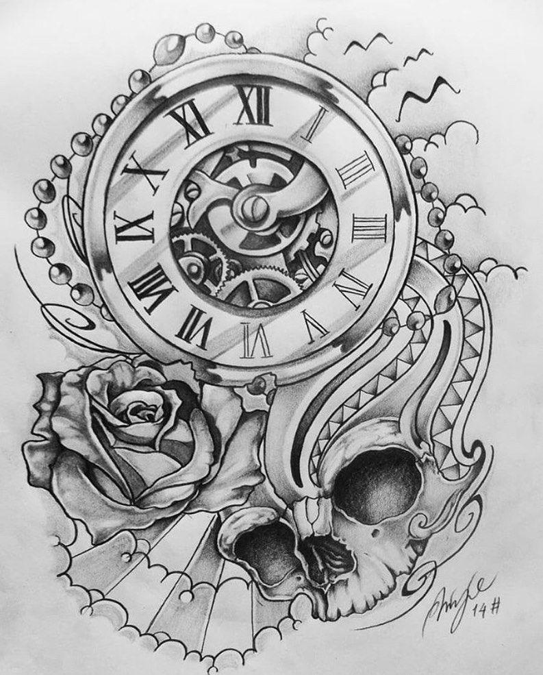 Tumblr In 2020 Clock Tattoo Time Piece Tattoo Clock Tattoo Design